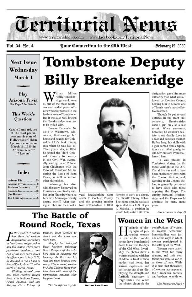 Tombstone Deputy Billy Breakenridge