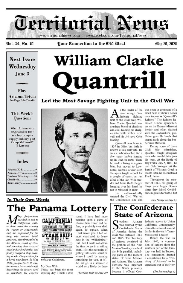 William Quantrill Led the Most Savage Fighting Unit  in the Civil War
